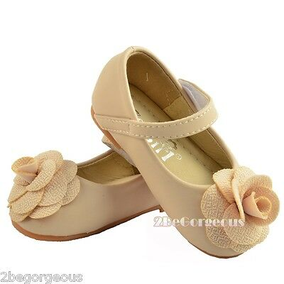 Flower Girl Wedding Formal Mary Janes Shoes Baby Size UK 4.5-8.5 EU 21-24 GS017A