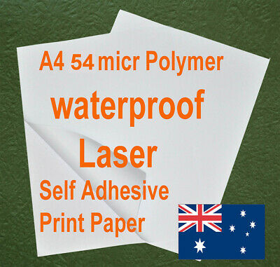 200sheets A4 54GSM Polymer Waterproof Self Adhesive Label Laser Print Paper