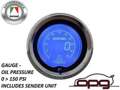 Performance Oil Pressure 52Mm Lcd Gauge 7 Colour Lighting (1 Guage)