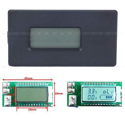 NEW18650 26650 Lithium Li-ion battery tester led Voltage Current Capacity meter