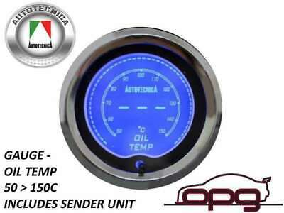 Performance Oil Temp 52Mm Lcd Gauge 7 Colour Lighting (1 Guage)