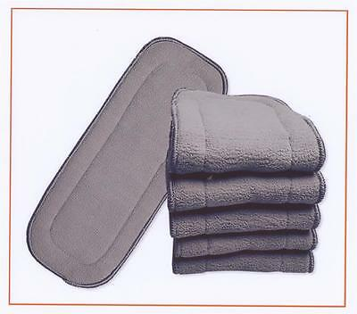 10x Charcoal Inserts for Modern Cloth Nappy Insert Charcoal for MCN 11x28cm New