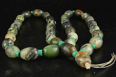 Vintage Collection Old Handmade Precious Jade Turquoise Necklace