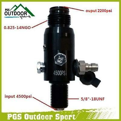Paintball 4500psi HPA High Compressed Air Tank Regulator Valve Output 2200psi