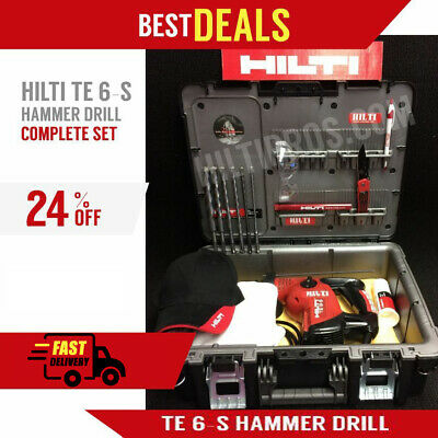 Hilti Te 6-S, Great Condition, Complete Set, Free Bits, Lots Of Extras,fast Ship