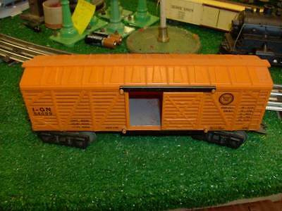 MARX #54099 MISSOURI PACIFIC STOCK CAR ALL ORIG RARE ORANGE VG+ COND 1956-57