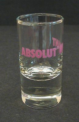 Absolut Vodka Kurant Shot Glass Pub Home Bar Used Collectable