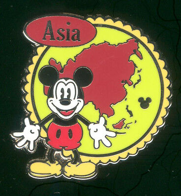 WDW 2012 Hidden Mickey Continents Stamps Asia Disney Pin 88611