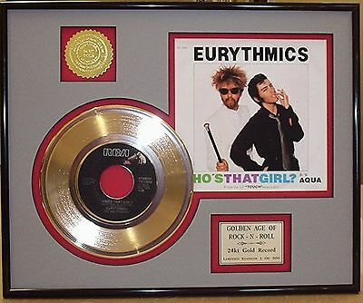 Eurythmics - Framed 24k Gold Record Display Collectors Edition - USA Ships Free
