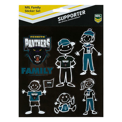 Licensed NRL Penrith Panthers FAMILY Car Sticker Sheet Christmas Birthday Gift