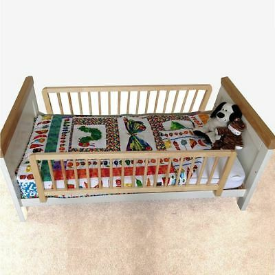 Safetots Double Sided Wooden Bed Guard - Two Toddler Bed Rails Natural