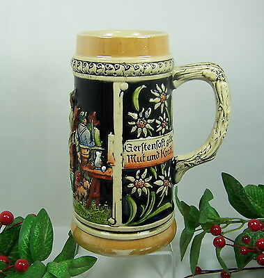 UNIQUE GIFT IDEA FOR HUNTER Beer Stein Mug WEST GERMANY **Mint Condition**