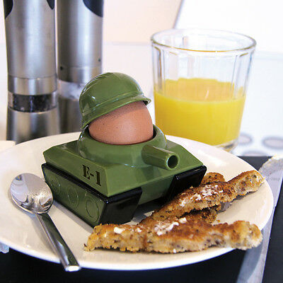 Egg - splode - SOLDIER TANK EGG CUP and SOLDIERS Toast Cutter Army