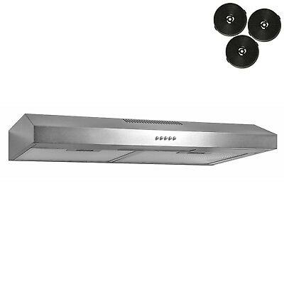 "New 30"" Under Cabinet Kitchen Range Hood Stainless Steel Silver Color"