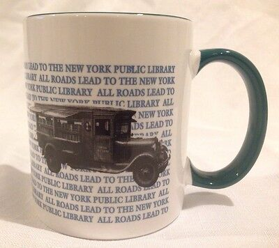 All Roads Lead To The New York Public Library Book Coffee Tea Mug Cup NY City