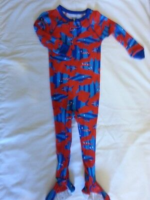 Carter's Infant Boys Red Shark Footed Cotton Pajama NWT 18M