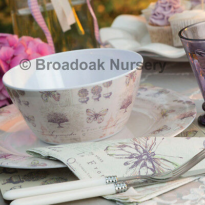 BUTTERFLY LANE MELAMINE TABLEWARE - Everyday, Picnic, Camping, Party, Botanique