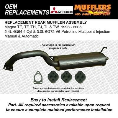Rear Muffler Suitable For Magna TE TF TH TJ TL TW Sedan 4cyl & 6cyl 6G72