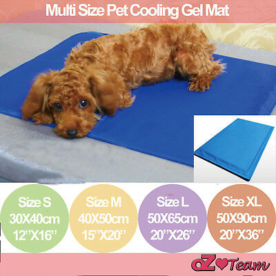Multi Size Pet Cooling Gel Mat Dog Cat Bed Non-Toxic Cool Water Summer Bed Pad