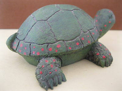Vintage Green with Red Dots Reptile Turtle Figurine