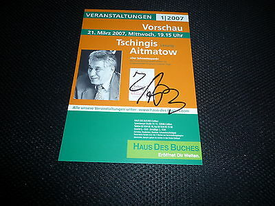 TSCHINGIS AITMATOW signed Autogramm 15x21 cm In Person +2008 SELTEN !!