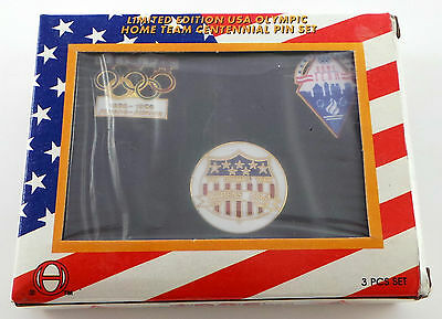 Brand New 1996 Centennial Olympic Pin Set w/ 1896-1996, Home Team & Athens pin