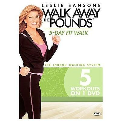 DVD ~ LESLIE SANSONE ~ WALK AWAY THE POUNDS ~ 5 DAY FIT WALK ~ SEALED DVD