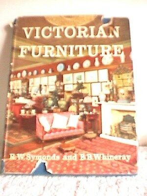VINTAGE 1962 'VICTORIAN FURNITURE' by SYMONDS & WHINERAY, 231 PAGES/DUST JACKET