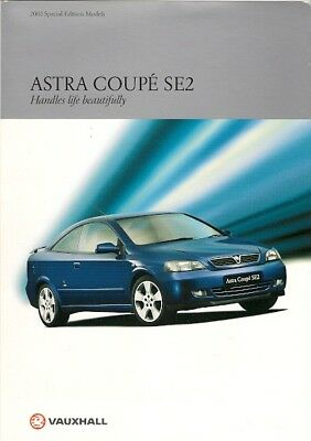 Vauxhall Astra Coupe SE2 Limited Edition 2001 UK Market Sales Brochure