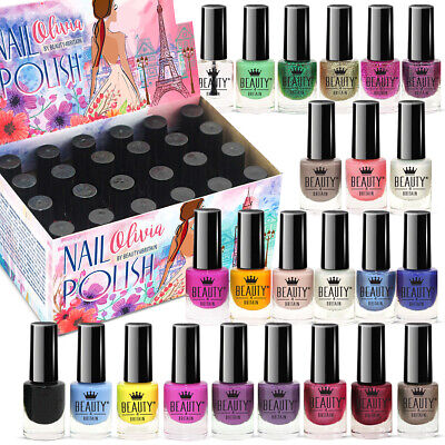 24 x NAIL POLISH VARNISH SET А 24 DIFFERENT MODERN COLOURS THE BEST GIFT UK