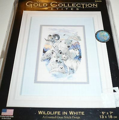 WILDLIFE IN WHITE Counted Cross Stitch Kit THE GOLD COLLECTION PETITES Animals
