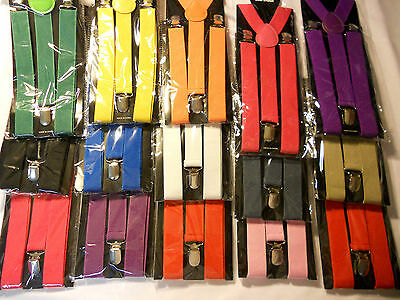 1pcs Unisex Clip-on Braces Elastic Y-back Suspender
