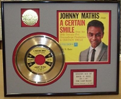 Johnny Mathis - Framed 24k Gold Record Display Collectors Edition USA Ships Free