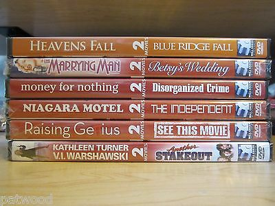 Lot of 6 NEW 'Double Feature' DVDs, 14 Movies, Cusack, Turner, Baldwin, Basinger