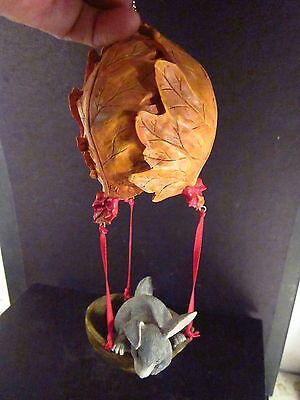 """Charming Tails Silvestri RABBIT IN LEAF BALLOON ORNAMENT Unk Name  7"""""""