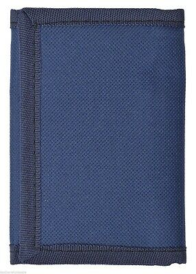 Kids Mens Solid Color Tri-Fold Wallet - Navy Blue