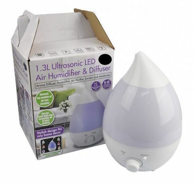 1.3L Ultrasonic LED Air Humidifier Aroma Essential Diffuser Steam Mist Purifier
