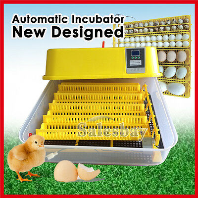 Newest Digital Fully Automatic Egg Turning Incubator Chicken Hen Duck Poultry