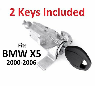 BMW X5 E53 LEFT DRIVER DOOR LOCK CYLINDER BARREL ASSEMBLY with KEY 2000-2006
