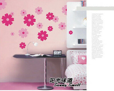Double Color Blossom Flowers Wall Sticker Mural Art Decal vinyl Wall Room Decor