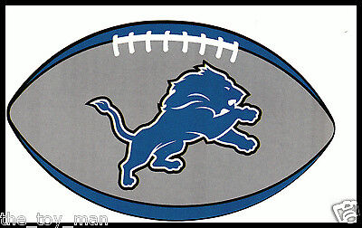 DETROIT LIONS OVAL FOOTBALL NFL LICENSED TEAM LOGO GLOSSY DECAL STICKER