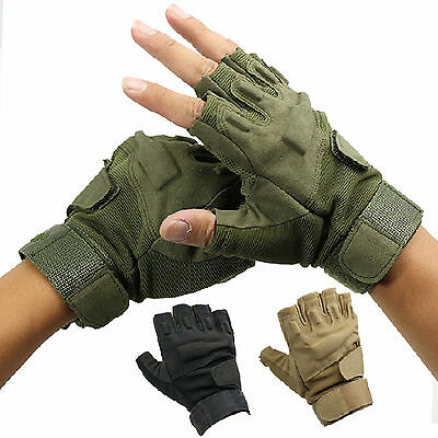 Outdoor Sports Fingerless Military Tactical Airsoft Hunting Riding Game Glove Z3
