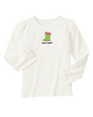 "NEW GYMBOREE GIRL ""Make A Splash"" Long Sleeve Tee Top Shirt size 10 (RV $16.95)"