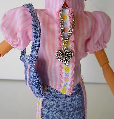 Barbie Doll Clothes and Accessories Lot, Blouse, Skirt, Purse, Shoes, Jewelry