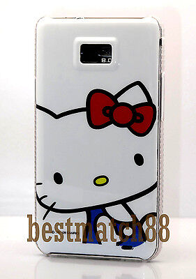 for samsung galaxy s2 SII i9100 and i777 white red bow hello kitty cute case
