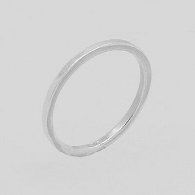 Silver ring stackable design 925 sterling plain stack ring size 5us 1.5mm wide