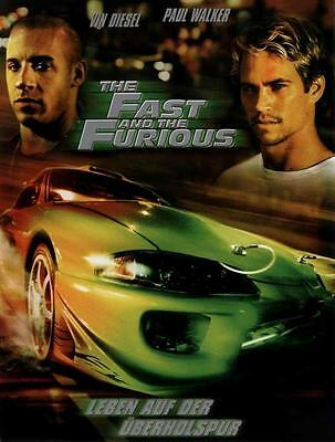 The Fast and the Furious Movie POSTER 27 x 40, Vin Diesel, Paul Walker,GA