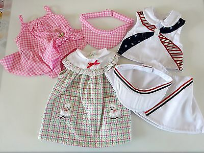 """NEW-Doll Clothes:Tennis Set Racquet-Dresses fit 18"""" Doll such as AG Doll-Lot 142"""