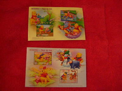 FOR THE STAMP COLLECTOR, SEASONS OF POOH AND FRIENDS, SO CUTE!!!!!!!!!!