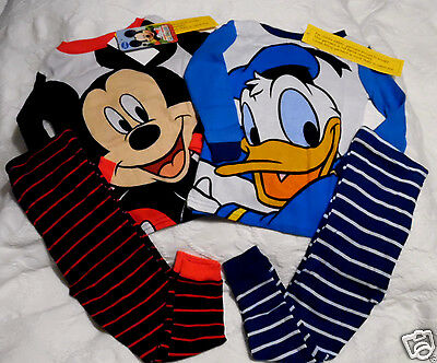 Disney Pajamas 2 Pairs Toddler size 2T Mickey Mouse and Donald Duck NWT $38